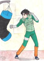 naruto- Rock Lee 00 Color by acexl1000