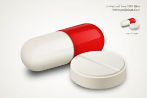 Capsule and White Pill Medicine Icon by psdblast