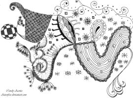 #1 Zendoodle Drawing by Aizenfree
