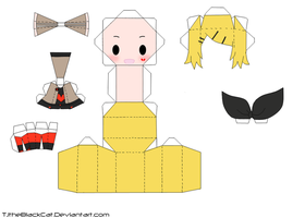 Unhappy Refrain Rin Papercraft by Tamuu-ii