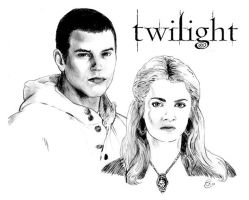 Twilight - Emmett and Rosalie by antalas