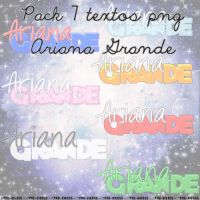Pack 7 textos png 'Ariana Grande' by Pao-Biebss