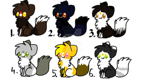 3. Adoptables by Ask-StaticTail