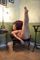 Naked on the Chair 9 by MichaelCPhotography