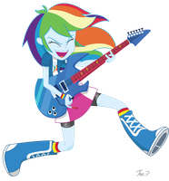 Equestria Girls Rainbow Dash - Jump Rock by JoeMasterPencil