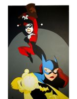 Harley Quinn and Batgirl by The-Casimir
