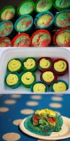 Rainbow Cupcakes by victimofemotion