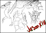 Jason XII Sketch page- COMM by BlackTailwolf