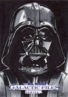 Star Wars GF S2 - Darth Vader Sketch Art Card by DenaeFrazierStudios