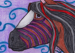 Therese ATC by TornFeathers