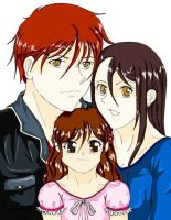 Renesmee, Bella, and Edward by inulover411