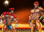 Battle of Mario and Bowser by CrimsonBlood-Z
