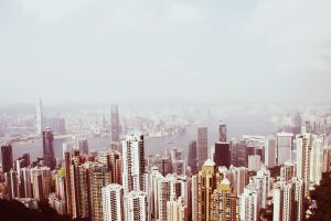 Overlooking HK by mamiia