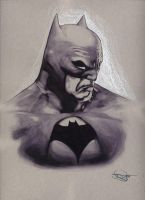 The Batman - Ink and colored pencil by DanielMurrayART