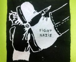 Fight Nazis patch by BridgettStrychnine