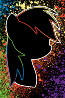 Rainbow Dash Splatter iPod/iPhone Wallpaper by AlphaMuppet