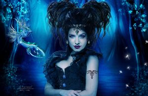 Bleu fantasy world by annemaria48