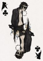 D'espairsRay Deck - King of Clubs by robbiedraws