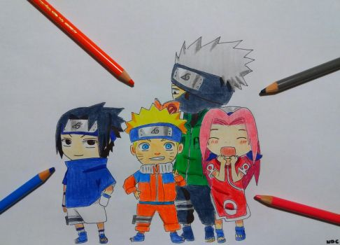 CHIBI TEAM 7 by NarutoDrawingChannel