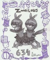 Zweilous in pencil by LudiculousPegasus