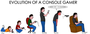 Evolution Of A Console Gamer by PalfreyMan