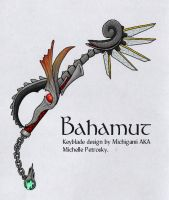 Bahamut Keyblade color ver. by ShiningamiMaxwell