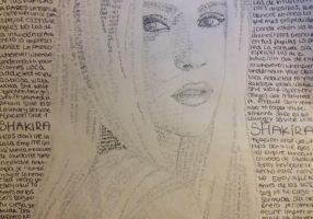 Shakira lyric portrait by Lena1406