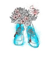 Flower Shoes by AnandaFifi