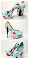 Adventure Time Stilettos Work In Progress by ponychops