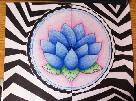 3D Lotus with color by KittyKyoto