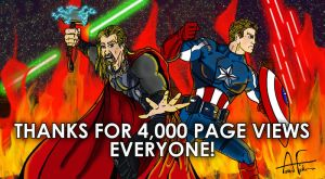 Thanks for 4000 Page Views by Stone-Fever