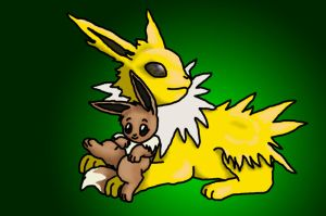 Jolteon and Eevee by ToygerCat