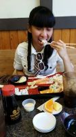 I'm eating Japanese sushi meal for lunch time 2 by Magic-Kristina-KW