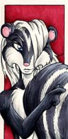 Skunk Bookmark by nuriko-chan