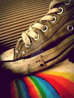 stepping on rainbows. by Camiloo