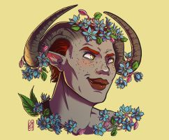 Semah - flower portrait commission by iisjah