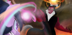 Tirek Vs Twilight Dcencia Request by Rixnane