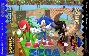 Green Hill Zone v1 - Knuckles by I-2