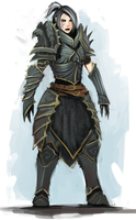 Warrior of the Crow by UltimaFatalis