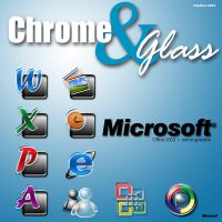 Chrome 'n' Glass Microsoft by Zefhar