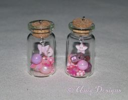Pink Charm Bottles by Moon-Q