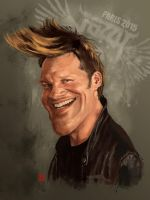 WWE Chris Jericho Y2J caricature by KhasisLieb
