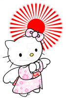 Hello Kitty - Pray for Japan by xmissbluex