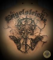 insect letters Truemmerwelten by 2Face-Tattoo