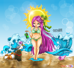 Summer Goddess - colored by Mallagueta-Pepper