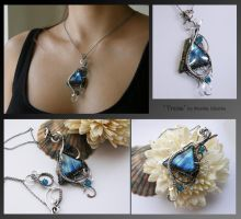 Tressa- wire wrapped silver necklace by mea00