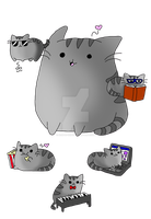 Pusheen the kawaii cat by Nite3007