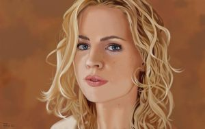Melissa George Portrait. by garrypfc
