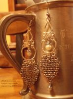 Pearl and Maille Earrings (3) by ulfchild