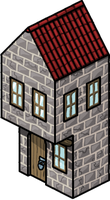 Medieval house by IndrickBorealis